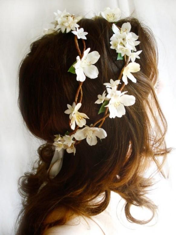 Леска для волос с цветами своими руками
