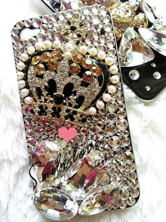 Luxry Phone Case Amazing Crystal And Pearl Iphone Case