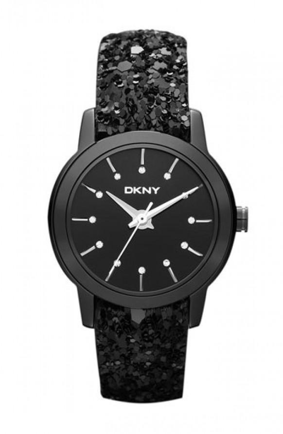 Glamorous Wedding Dkny Black Sparkle Strap Watch