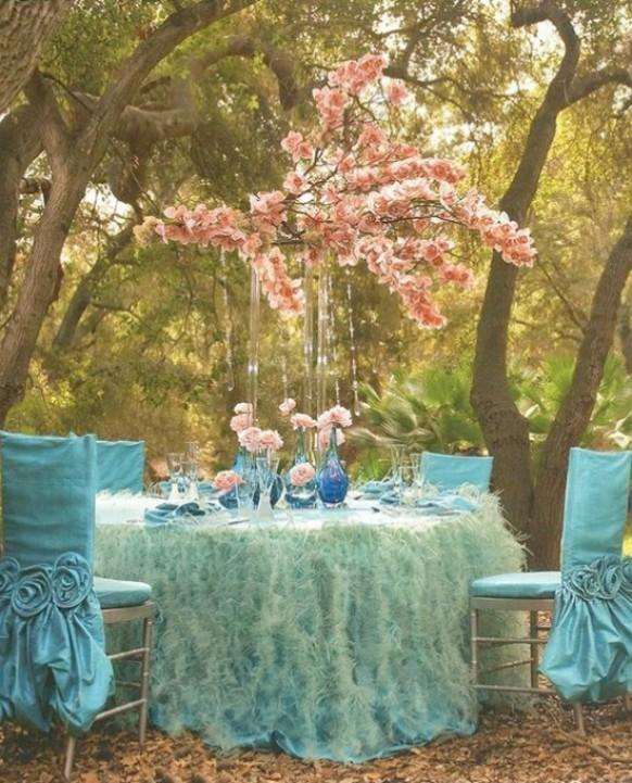 Pink And Turquoise Garden Wedding Decors Dream Weddings