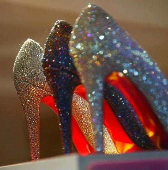 louboutin mariage glitter
