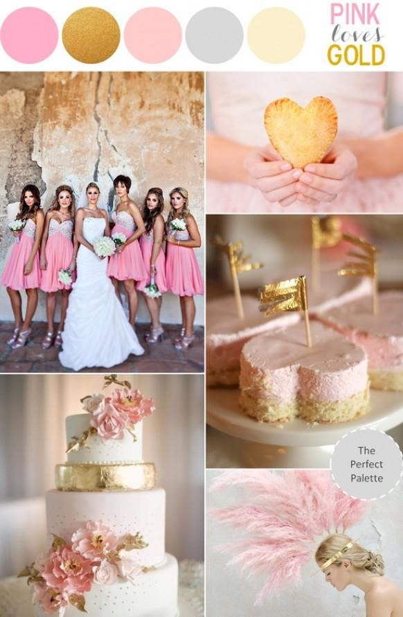 Pink And Gold Wedding Theme Sparkly Pink Wedding Ideas 1919827