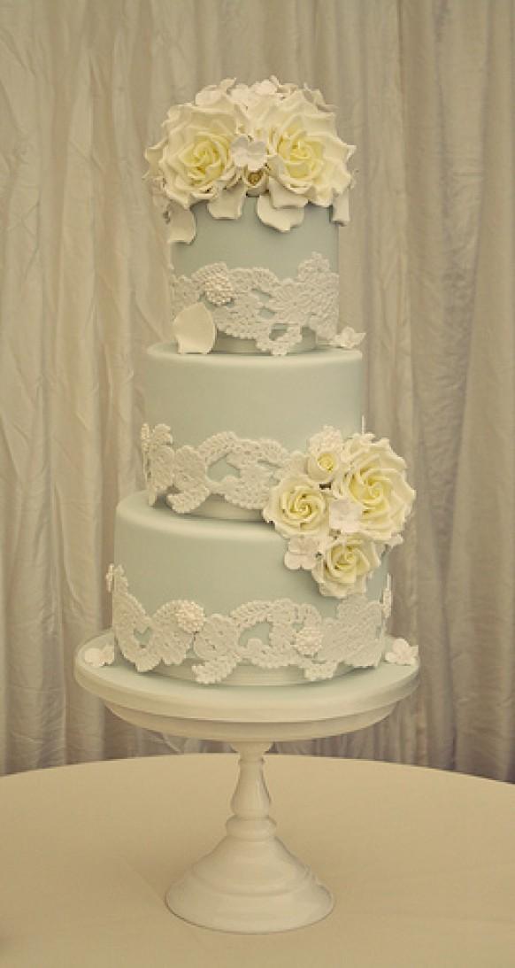 Lace Veil - Lace Veil Wedding Cake #1987481 - Weddbook
