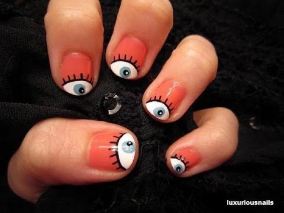 Wedding nail designs girly eyeball nail art tutorial 1989028 an error occurred prinsesfo Gallery