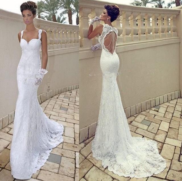 nouveau blanc ivoire dentelle robe de mari e sir ne