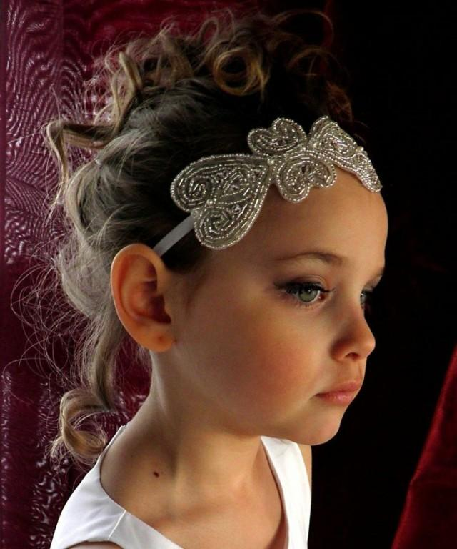 Flower Girl Wedding Hairstyles: Baby Flower Girl Headband #2047091