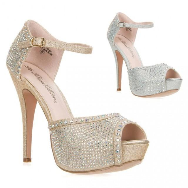 new women 39 s ankle strap high heel platform peep toe dress. Black Bedroom Furniture Sets. Home Design Ideas