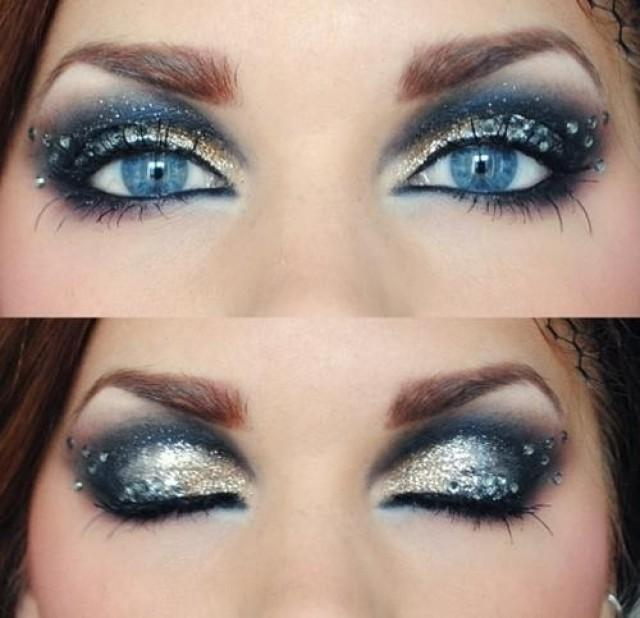 Blue Eyes When Combined With The Silver Colored Eye Shadow 2053213