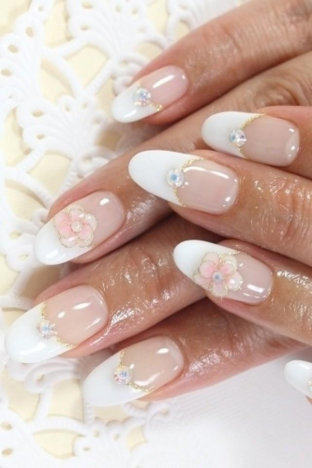 Wedding Nail Designs French Manicure Bridal Nail Art 2065126 Weddbook