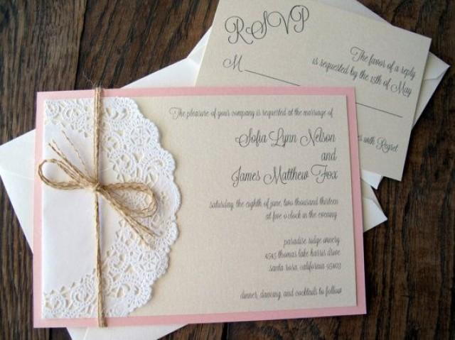 Lace Doily Vintage Wedding Baby Shower Invitation Invite