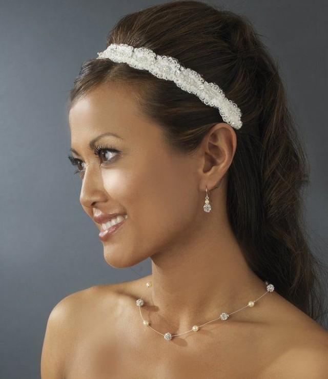 NWT Beaded Bridal Wedding Headband With Crystals 1d02c82c8a4