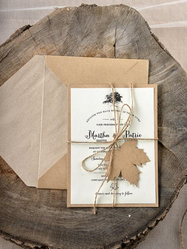 Rustic Maple Tree Wedding Invitation - LaserCut Wedding ...