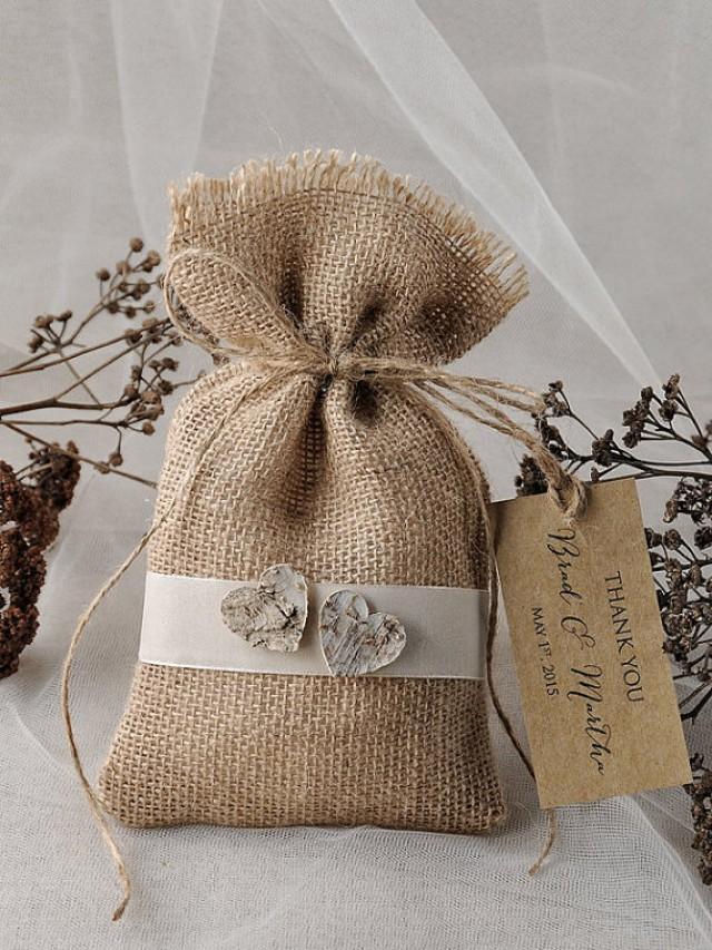 Rustic Wedding Favor Bag Birch Bark Wedding Favor
