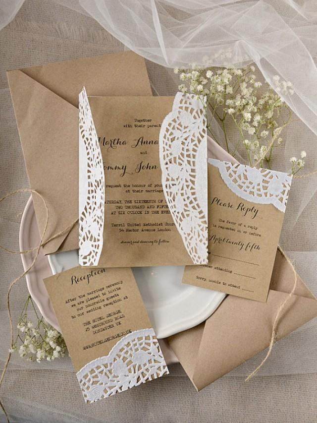 Rustic Wedding Invitation - Eco Friendly Wedding Invitations ...