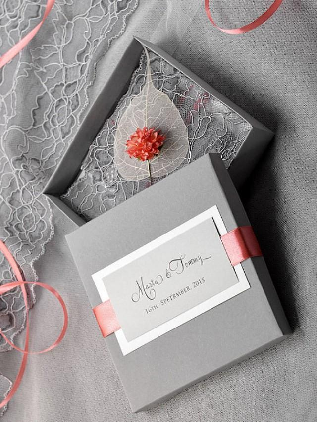 Custom Listing (100) Box And Lace Wedding Invitation, Vintage ...