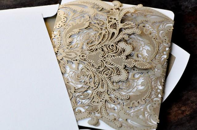 100 Vintage Lace Floral Wedding Invitation The Great Gatsby   New #2218310    Weddbook