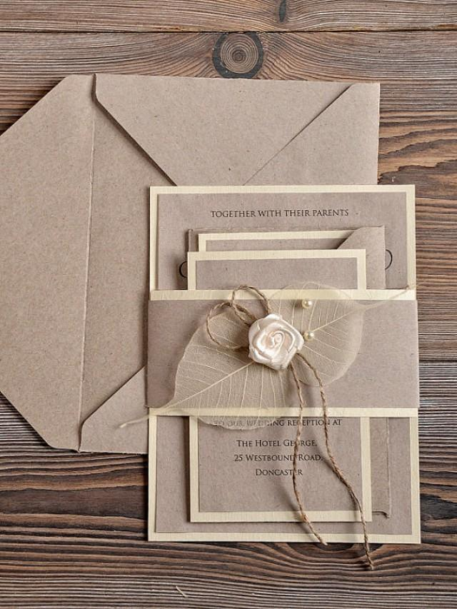 Recycling Eco Wedding Invitation - Country Wedding Invitation ...