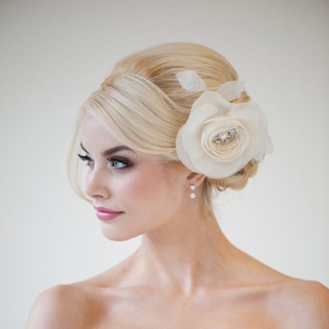 Wedding Hair Accessory Silk Flower Hair Comb Bridal Hair Flower