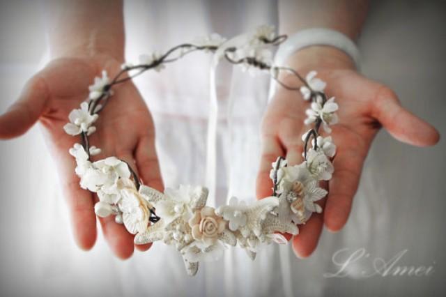 Starfish And Seashell Bridal Headpiece Wedding Circlet