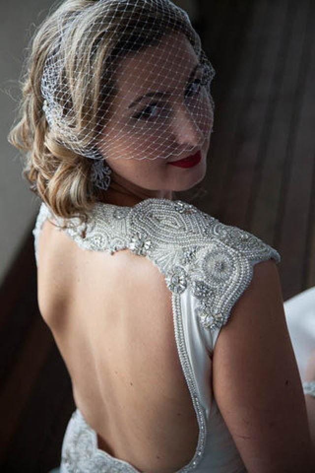 wedding dress embellishment shoulder candy made to order new
