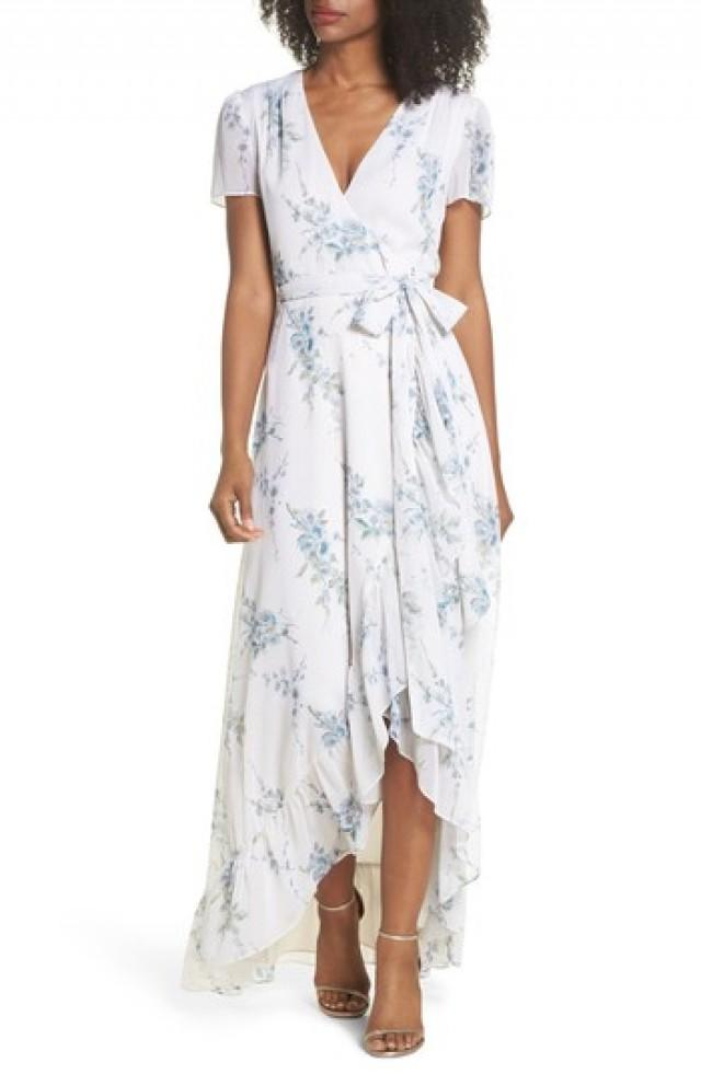 Brautjungfer - WAYF The Natasha Floral Wrap Maxi Dress #2825503 ...