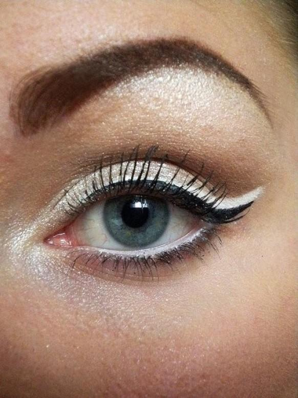 Cat Eye Hochzeit Makeup Cat And Fishtail Eyeliner 800368 Weddbook