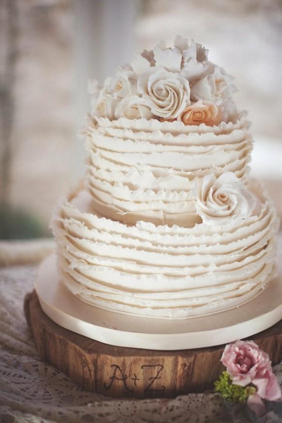 Chic Ruffle Wedding Cakes Wedding Cake Design 805120 Weddbook