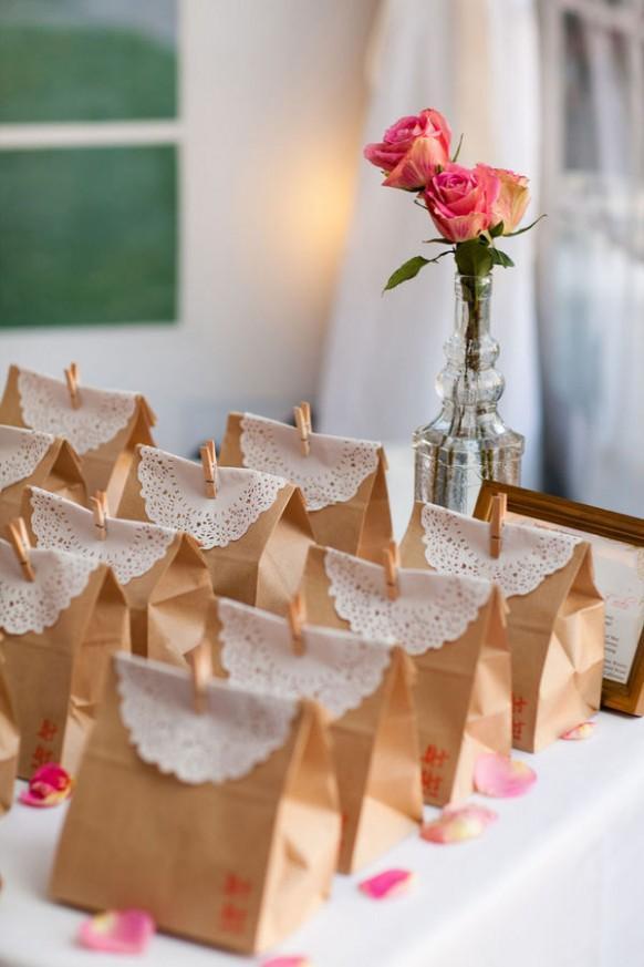 Упаковка для подарка на свадьбу гостям 97