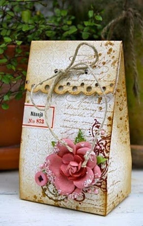 DIY Vintage Wedding Favors ♥ Handmade Vintage Gift Bag #842719 ...
